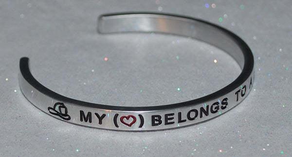 My Heart Belongs To A Firefighter  |  Engraved Handmade Bracelet by: Say It and Wear It Jewelry - #love