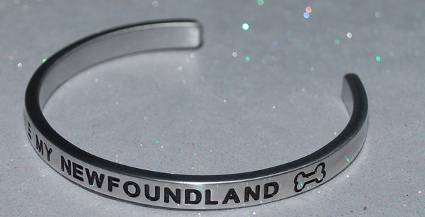I Love My Newfoundland   |  Engraved Handmade Bracelet by: Say It and Wear It Jewelry - #love