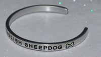 I Love My Old English Sheepdog   |  Engraved Handmade Bracelet by: Say It and Wear It Jewelry - #love