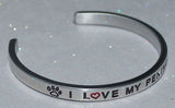 I Love My Pekingese   |  Engraved Handmade Bracelet by: Say It and Wear It Jewelry - #love