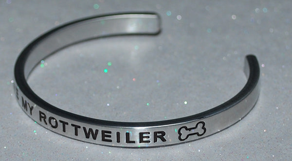 I Love My Rottweiler   |  Engraved Handmade Bracelet by: Say It and Wear It Jewelry - #love