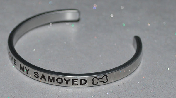 I Love My Samoyed   |  Engraved Handmade Bracelet by: Say It and Wear It Jewelry - #love