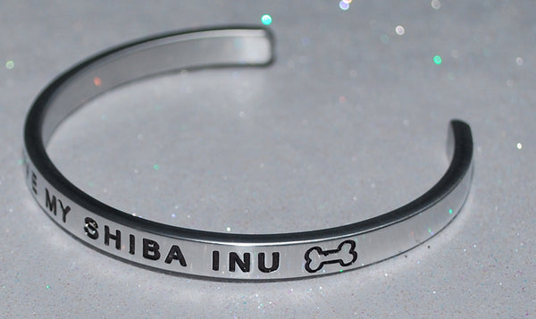 I Love My Shiba Inu    |  Engraved Handmade Bracelet by: Say It and Wear It Jewelry - #love