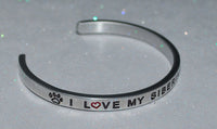 I Love My Siberian Husky    |  Engraved Handmade Bracelet by: Say It and Wear It Jewelry - #love