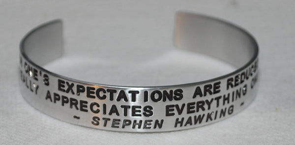 "Stephen Hawking - Expectations "" Quote """