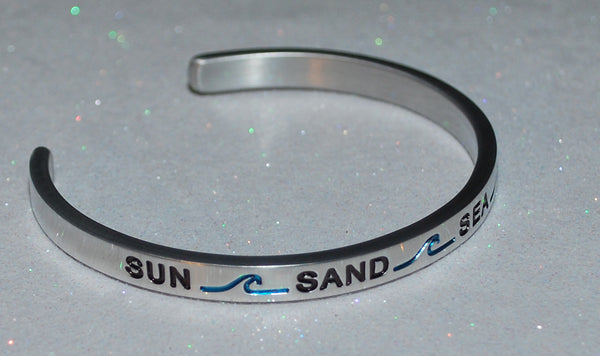 Sun * Sand * Sea * Serenity  |  Engraved Handmade Bracelet by: Say It and Wear It Jewelry - #love