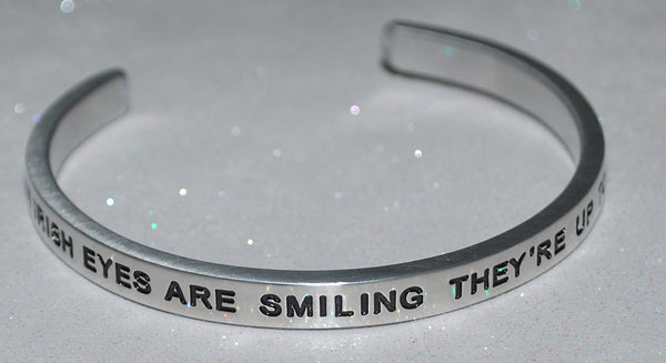 When Irish Eyes Are Smiling They're Up To Something  |  Engraved Handmade Bracelet by: Say It and Wear It Jewelry - #love