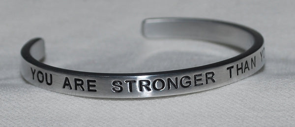 You Are Stronger Than You Think!  |  Engraved Handmade Bracelet by: Say It and Wear It Jewelry - #love