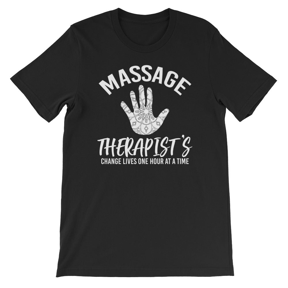 Massage Therapist-Massage Therapy-Massage-Massage Gift-Changing Lives-Healing Hand-Spa-T-Shirt