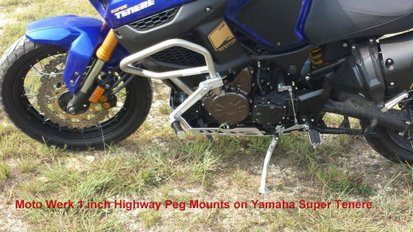 Highway Peg Mounts for 1 Inch Dia Bars