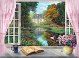 Tea Time: View on the Garden - 500 Piece Jigsaw Puzzle