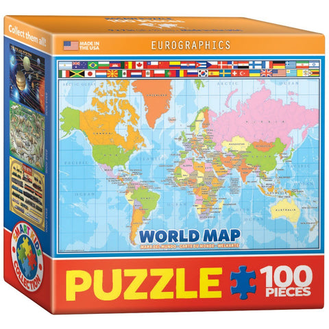 World Map - 100 Piece Mini Jigsaw Puzzle