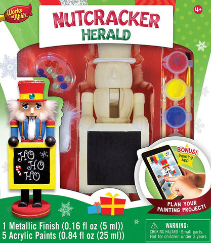 Nutcracker Herald - Wood Painting Kit