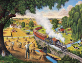 Jigsaw Puzzle Image - 300 pc farm, countryside, train