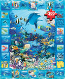 Jigsaw Puzzle Image - 300 pc dolphins, fish, coral reef