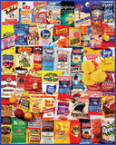 Jigsaw Puzzle Image - 1000 pc collage of potato chip packaging