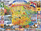 Jigsaw Puzzle Image - 1000 Piece map of Missouri and local attractions