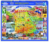 Jigsaw Puzzle Front Box Image - 1000 pc map of Missouri