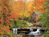 Jigsaw Puzzle Image - 1000 pc autumn season, waterfall