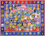 AMERICAN MILITARY HONORS - 1000 Piece Jigsaw Puzzle - Games2Puzzles