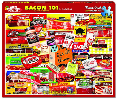BACON 101 - 1000 Piece Jigsaw Puzzle - Games2Puzzles