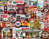 Jigsaw Puzzle Image - 1000 pc collage of service station memorabilia