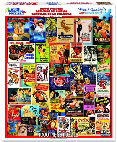Jigsaw Puzzle Front Box Image - 1000 pc Collage of Classic Movies