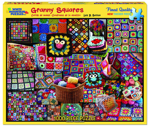 GRANNY SQUARES QUILTS - 1000 Piece Jigsaw Puzzle