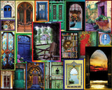 Jigsaw Puzzle Image - 550 pc collage of doors