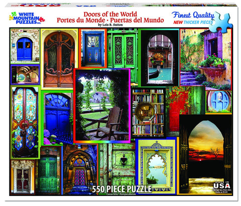 DOORS OF THE WORLD - 550 Piece Jigsaw Puzzle