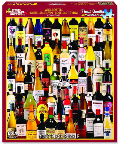 WINE BOTTLES - 1000 Piece Jigsaw Puzzle