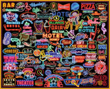 Jigsaw Puzzle Image - 1000 pc featuring collage of neon signs