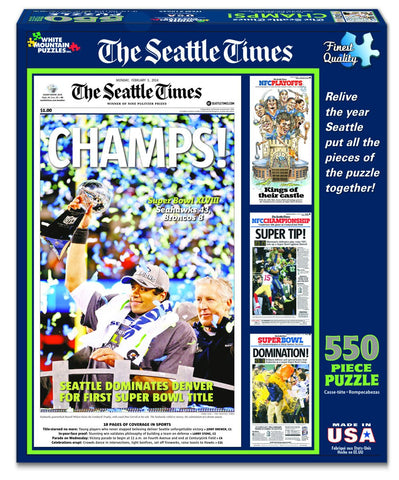 NFL SEATTLE SEAHAWKS CHAMPIONS - 550 Piece Jigsaw Puzzle
