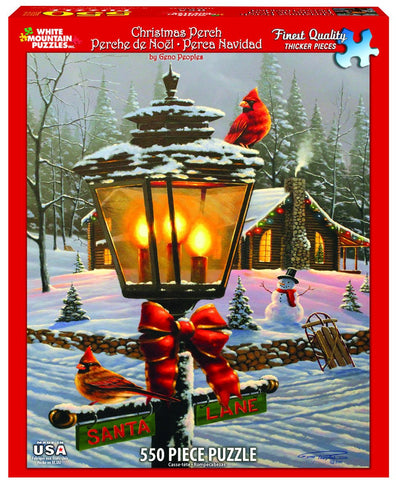 Jigsaw Puzzle Front Box Image - 550 pc snowy winter scenery