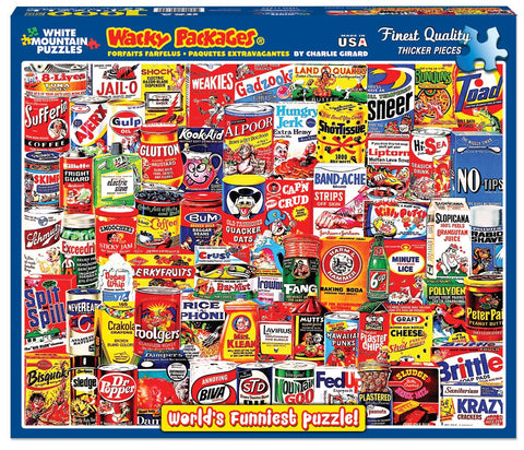 WACKY PACKAGES - 1000 Piece Jigsaw Puzzle