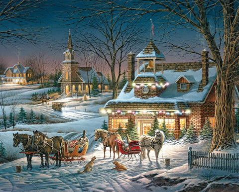 Jigsaw Puzzle Image - 1000 pc Village in the winter, snow