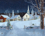 Jigsaw Puzzle Image - 1000 pc Winter Village Scenery