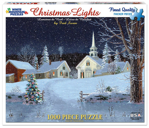 CHRISTMAS LIGHTS - 1000 Piece Jigsaw Puzzle