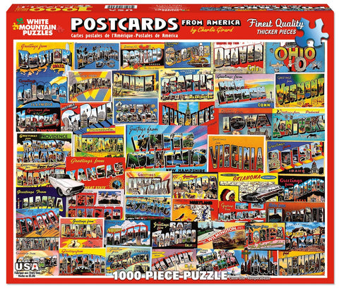 POSTCARDS FROM AMERICA - 1000 Piece Jigsaw Puzzle