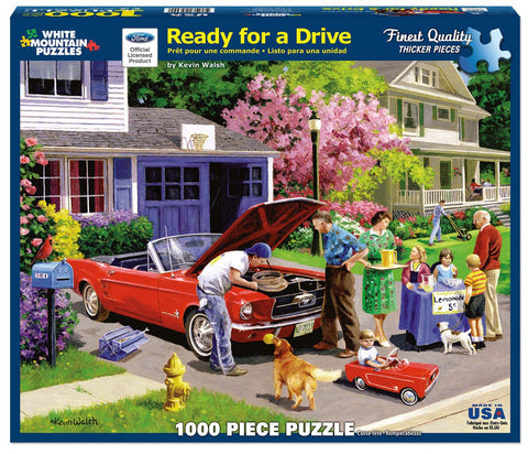 READY FOR A DRIVE - 1000 Piece Jigsaw Puzzle