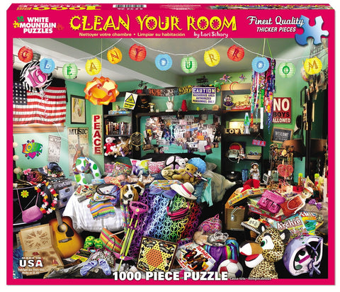 Jigsaw Puzzle Front Box Image - 1000 pc View of dirty room