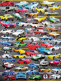 Jigsaw Puzzle Image - 550 pc collection of Ford mustangs