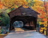 ALBANY COVERED BRIDGE - 1000 Piece Jigsaw Puzzle - Games2Puzzles