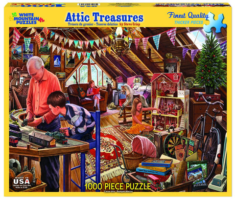 ATTIC TREASURES - 1000 Piece Jigsaw Puzzle - Games2Puzzles