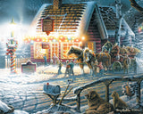 Jigsaw Puzzle Image - 1000 pc winter day, sleigh ride