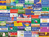 Jigsaw Puzzle Image - 1000 piece Collection of state road signs