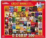 Jigsaw Puzzle Front Box Image - 300 pc Collage of books, novels.