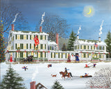 Jigsaw Puzzle Image - 1000 piece Kids sledding in front of the in during winter days