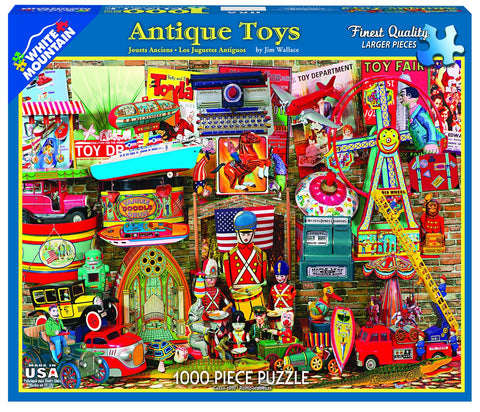 ANTIQUE TOYS - 1000 Piece Jigsaw Puzzle - Games2Puzzles