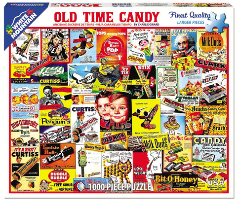 Jigsaw Puzzle Front Box Image - 1000 pc Collage of candy